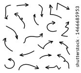 arrow set collection vector  ... | Shutterstock .eps vector #1466685953