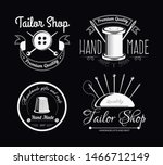 tailor shop isolated icons... | Shutterstock .eps vector #1466712149