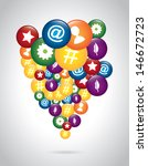 communications icons with... | Shutterstock .eps vector #146672723