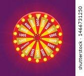 wheel of fortune  realistic...   Shutterstock .eps vector #1466731250