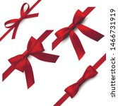 red bows with ribbons ... | Shutterstock .eps vector #1466731919