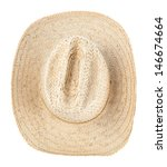 Straw Hat Isolated Over White...