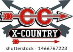 cross country team logo with... | Shutterstock .eps vector #1466767223
