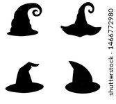 A Set Of Witch Hats. Vector....