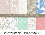 collection of seamless patterns.... | Shutterstock .eps vector #1466795216