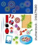 illustration of summer festival
