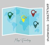 world map for world tourism day ... | Shutterstock .eps vector #1466797649