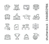 education related icons  thin... | Shutterstock .eps vector #1466802986