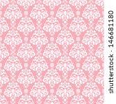 Seamless Pink   White Damask