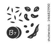 vitamin b7 glyph icon. almonds... | Shutterstock .eps vector #1466825900