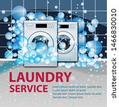 laundry service banner or...   Shutterstock .eps vector #1466830010