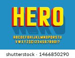 trendy 3d comical font design ... | Shutterstock .eps vector #1466850290