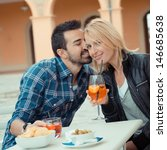 couple drinking aperitif in a... | Shutterstock . vector #146685638