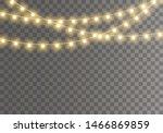 christmas lights isolated on... | Shutterstock .eps vector #1466869859