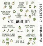 tips for zero waste lifestyle | Shutterstock .eps vector #1466870096