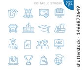 education related icons.... | Shutterstock .eps vector #1466872649