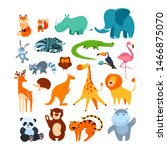 big animal set. collection of...   Shutterstock .eps vector #1466875070