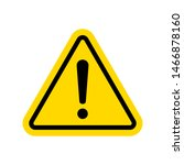 caution icon with triangle form.... | Shutterstock .eps vector #1466878160