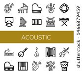 set of acoustic icons such as... | Shutterstock .eps vector #1466879459