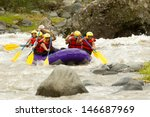 Rafting Whitewater Crowd Of...