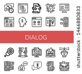 set of dialog icons such as... | Shutterstock .eps vector #1466880833