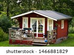 Swedish  Red Cabin With Porch...