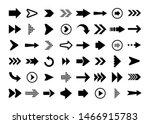 black arrows set on white... | Shutterstock .eps vector #1466915783