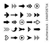black arrows set on white... | Shutterstock .eps vector #1466928716