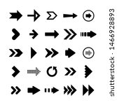 black arrows set on white... | Shutterstock .eps vector #1466928893