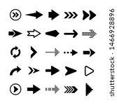 black arrows set on white... | Shutterstock .eps vector #1466928896