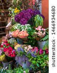 Various Bouquets Of Flowers On...