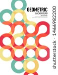 abstract geometric shape layout ... | Shutterstock .eps vector #1466982200