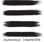 brush stroke set isolated on... | Shutterstock .eps vector #1466987096
