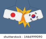 container japan crashed... | Shutterstock .eps vector #1466999090