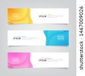 vector abstract banner design...