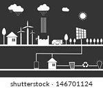 urban city background.  | Shutterstock .eps vector #146701124