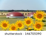 biogas facility and sunflower   ... | Shutterstock . vector #146705390