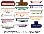 empty paper label or abstract... | Shutterstock .eps vector #1467078506