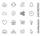 ui line icons set. linear style ...