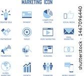 set of business  marketing... | Shutterstock .eps vector #1467096440