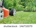 Lawn Mower On A Lawn In The...
