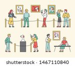 exhibition works of art museum  ...   Shutterstock .eps vector #1467110840