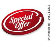 red special offer button | Shutterstock .eps vector #146711318