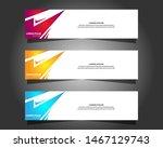 vector abstract design banner... | Shutterstock .eps vector #1467129743