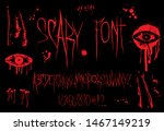 horror font vector alphabet.... | Shutterstock .eps vector #1467149219