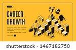 career growth isometric landing ... | Shutterstock .eps vector #1467182750