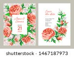wedding invitation card. frame... | Shutterstock .eps vector #1467187973