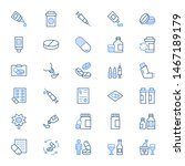drugs   filled outline icons | Shutterstock . vector #1467189179