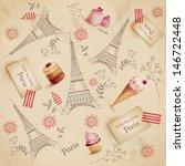 paris pattern | Shutterstock . vector #146722448