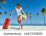 woman in hat with a... | Shutterstock . vector #1467235820